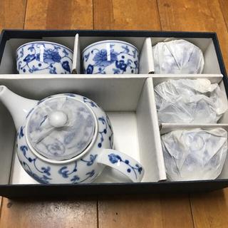 新品! 藍染唐草茶器