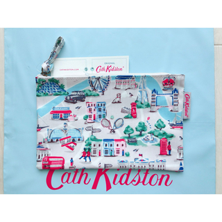 キャスキッドソン(Cath Kidston)の【新品未使用】キャスキッドソン ジップパース スモールロンドンマップ(ポーチ)