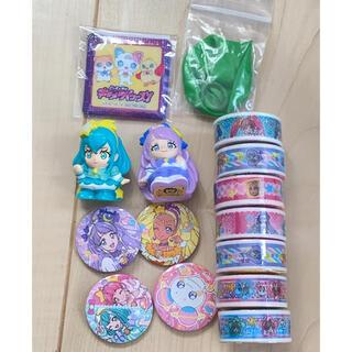 バンダイ(BANDAI)のプリキュア まとめ売り マスキングテープ 指人形 バッジ(テープ/マスキングテープ)