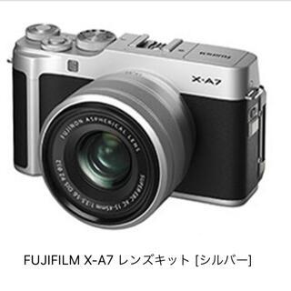富士フイルム -  FUJIFILM ミラーレス一眼カメラ X-A7レンズキット シルバー