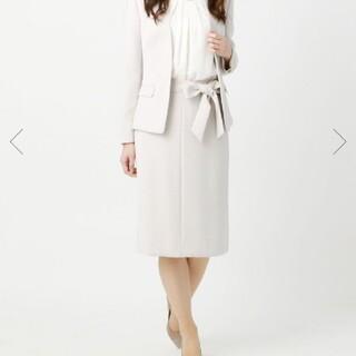 スーツカンパニー(THE SUIT COMPANY)のスーツカンパニー ベージュ リボン スカート 巻き(スーツ)