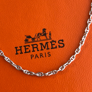 Hermes - 超希少 HERMES ホワイトゴールド シェーヌダンクルネックレス 750WG