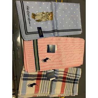 ラルフローレン(Ralph Lauren)のラルフローレン ミニタオル ハンカチ 3枚(タオル/バス用品)