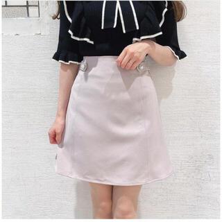 evelyn - evelyn サイドベルト台形スカート