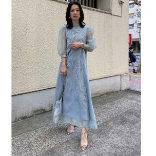 Ameri VINTAGE - MEDI FOREST EMBROIDERY DRESS アメリヴィンテージ