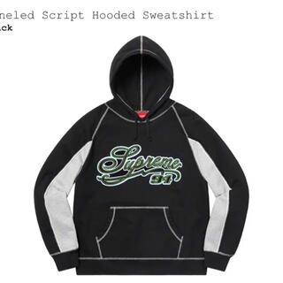 Supreme - supreme シュプリーム パーカーpaneled script hooded