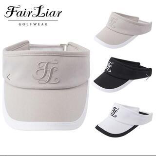 マークアンドロナ(MARK&LONA)のFair Liar ゴルフ サンバイザー レディース 韓国ブランド ベージュUD(ウエア)
