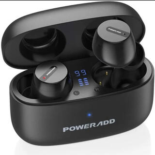 ワイヤレスイヤホン Bluetooth power add