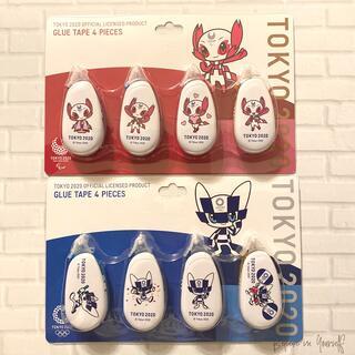 コクヨ - 《半額以下‼︎》東京2020オリンピック ドット柄テープのり4個セット