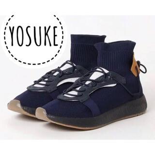ヨースケ(YOSUKE)のYOSUKE ヨースケ【美品】本革使用 ハイカット スニーカー(スニーカー)