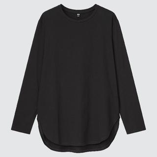 UNIQLO - ユニクロ スムースコットンシャツテールTシャツ 【160】