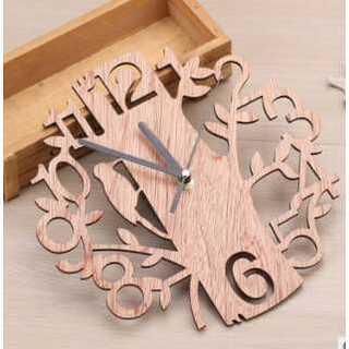 時計 木製 鳥 森 掛け時計 置時計 とけい 柱時計 ウッド製