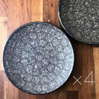 美濃焼 カレー皿 パスタ皿 プレート 4枚 22.5cm   りんご