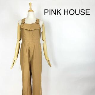 PINK HOUSE - PINK HOUSE オールインワン サロペットオーバーオール金ボタン ゆったり