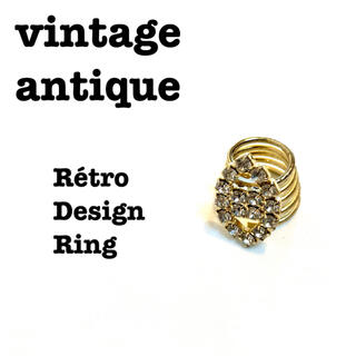 ロキエ(Lochie)の美品【 vintage 】 アンティークリング レトロリング キラキラジュエリー(リング(指輪))