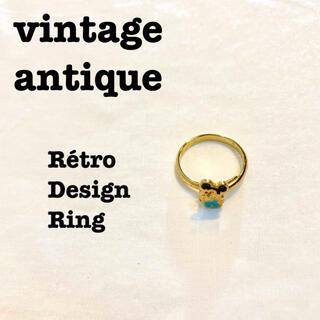 ロキエ(Lochie)の美品【 vintage 】 アンティークリング レトロリング オールドミッキー(リング(指輪))