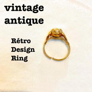 ロキエ(Lochie)の美品【 vintage 】 アンティークリング レトロリング ゴールドデザイン(リング(指輪))