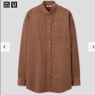 UNIQLO - UNIQLO U コーデュロイワイドフィットスタンドカラーシャツ Mサイズ