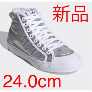 adidas - 新品 Adidas Nizza high ハイカット グリッター 24.0