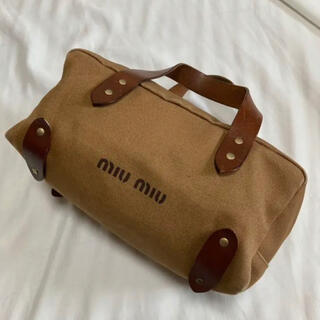 miumiu - MIU MIU ミュウミュウ ハンドバッグ ミニボストン キャンバス レザー