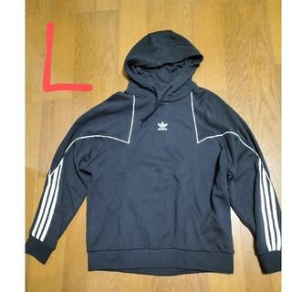 アディダス(adidas)の定価10989円‼️adidasサイズ L ビッグトレフォイルロゴパーカー黒L(パーカー)