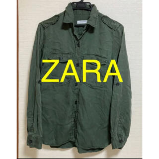 ZARA - ZARA ミリタリー ロング シャツ ジャケット