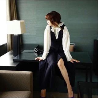 Noble - coel ウール混 ジャンバースカート