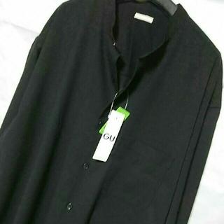 ジーユー(GU)の新品 XL GU オーバーサイズ シャツ 黒 大きいサイズ(シャツ)
