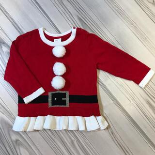 H&M - 美品!【H&M】クリスマス セーター サンタクロース サイズ74