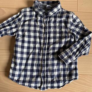 プチバトー(PETIT BATEAU)のプチバトー 長袖シャツ チェック 4ans(Tシャツ/カットソー)