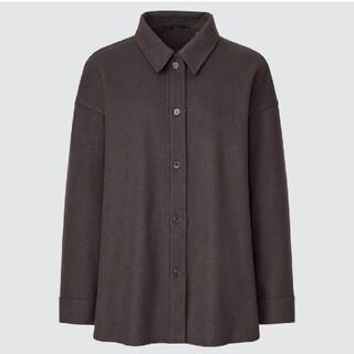 UNIQLO - ユニクロ ブラッシュドジャージーシャツジャケット