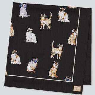 PAUL & JOE - ポールアンドジョー × ユニクロ スカーフ 猫 黒