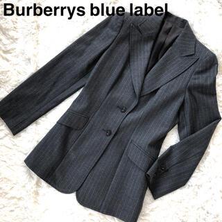 バーバリーブルーレーベル(BURBERRY BLUE LABEL)のBurberrys bluelabel テーラードジャケットストライプグレー38(テーラードジャケット)