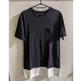 ナンバーナイン(NUMBER (N)INE)のNumber(N)ine 切り替え半袖ポケットTシャツ Lサイズ(Tシャツ/カットソー(半袖/袖なし))