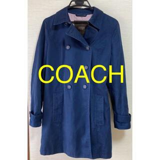 コーチ(COACH)のCOACH シグネスチャー ネイビー トレンチコート コーチ(トレンチコート)