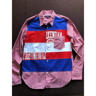 COMME des GARCONS - コムデギャルソン オム 19AW 再構築レッドチェックシャツ メンズ XS
