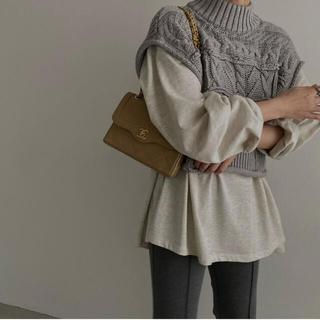 トゥデイフル(TODAYFUL)の【試着のみ】spring patchwork cable knit vest(ベスト/ジレ)