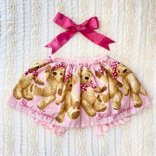 Shirley Temple - シャーリーテンプル ベアプリントパンツ付きスカート