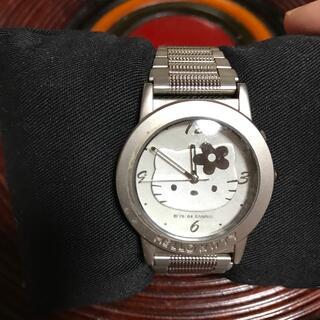 サンリオ(サンリオ)の👩❤️👨キティ 腕時計美品シルバー激安 (腕時計)