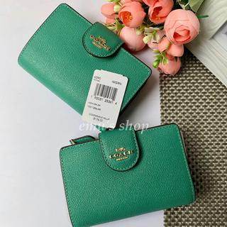 COACH - ★新品★COACH コーチ 折り財布 ミニ財布 グリーン 緑