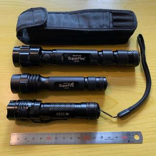 ジェントス(GENTOS)のGENTOS LEDライト 3本セット 充電池付き(ライト/ランタン)
