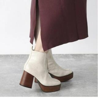 ジーナシス(JEANASIS)のジーナシスJEANASiS アツゾコモカシンブーツ 厚底ブーツ Mサイズ(ブーツ)