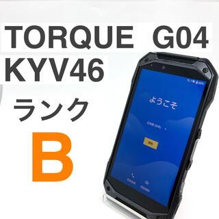 京セラ - 液晶美品 京セラ TORQUE G04 KYV46 ブラック SIMフリー
