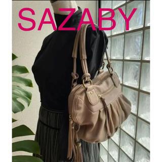 SAZABY - サザビー グレージュ革バック
