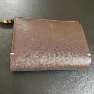 ポールスミス(Paul Smith)のポールスミス ブラウン 2つ折り財布 ジップストロー ▶︎送料無料(折り財布)