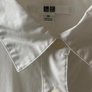 UNIQLO - 【新品同様お得】ユニクロ 白 長袖 ブラウス レディース XL