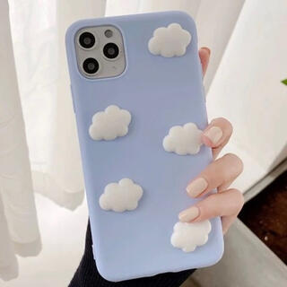 韓国 iPhoneケース 雲 かわいい