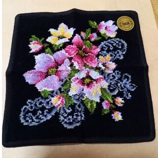 FEILER - フェイラー ハンカチ 黒花柄
