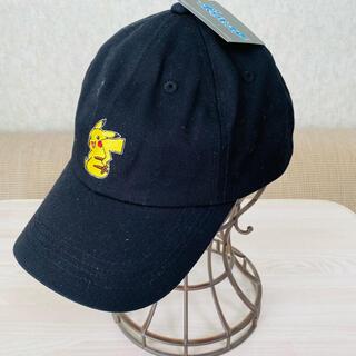 ポケモン(ポケモン)の新品未使用 ポケモン ピカチュウ ブラック ベースボールキャップ 帽子 ハット(帽子)