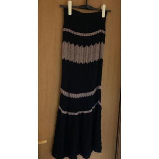 リップサービス(LIP SERVICE)のLIPSERVICE バイカラークロシェマーメイドスカート(ロングスカート)